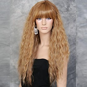 Synthetic Wig Kinky Curly Curly Wig Blonde Long Golden Flaxen Women's Blonde Brown Yellow