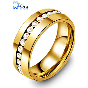 Statement Ring Gold Stainless Steel Gold Plated Ladies Fashion 6 7 8 9 10 / Men's / Men's