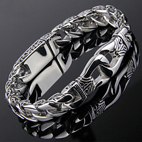 Men's Chain Bracelet Stainless Steel Bracelet Jewelry Silver For Christmas Gifts Party Daily Casual Sports