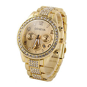 Men's Toggle Clasp Wrist Watch Golden Rose Gold Silver