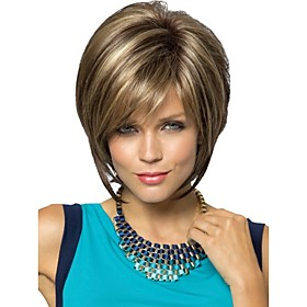 Synthetic Wig Straight Straight Pixie Cut Wig Blonde Short Blonde Synthetic Hair Women's Blonde StrongBeauty