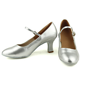 Women's Modern Shoes High Heel Customized Heel Leatherette Black / Silver / Gold / Indoor / Practice / Professional
