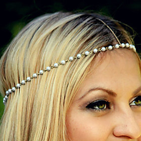 Women's Headbands For Daily Casual Flower Imitation Pearl Alloy Gold / White