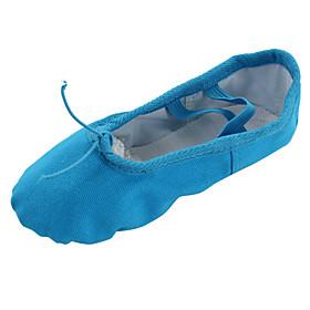 Women's Belly Shoes Flat Flat Heel Canvas Blue / Ballet Shoes / Indoor