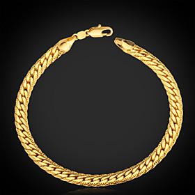 Men's Chain Bracelet Vintage Bracelet Bracelet Figaro Chunky Ladies Personalized Classic Fashion Platinum Plated Bracelet Jewelry Silver / Golden / Rose Gold F