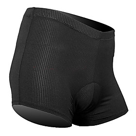 SANTIC Men's Women's Cycling Under Shorts Black Solid Color Bike Underwear Shorts Padded Shorts / Chamois Bottoms Breathable Sports Tactel