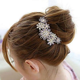 Decorations / Side Combs Hair Accessories Synthetic Gemstones / Alloy Wigs Accessories Women's 1pcs pcs 1-4inch cm Special Occasion / Daily Archaistic / Classi
