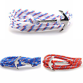 Men's Women's Charm Bracelet Friendship Bracelet Anchor Alloy Bracelet Jewelry Blue / Dark Red / Light Blue For Christmas Gifts Daily Casual Sports