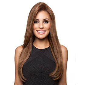 Synthetic Wig Straight Straight Asymmetrical Wig Long Brown Synthetic Hair Women's Cosplay Brown