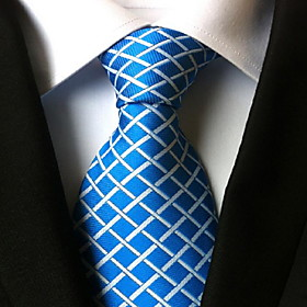 Men's Party / Work / Basic Necktie - Plaid
