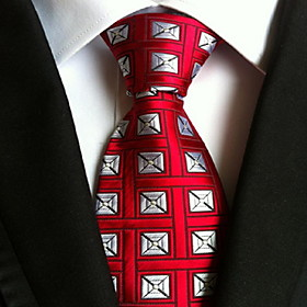 Men's Party / Work / Basic Necktie - Geometric Print