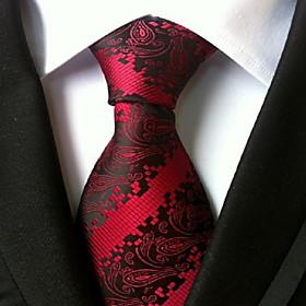 Men's Work Necktie - Paisley Print