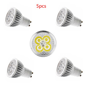 5pcs 4 W LED Spotlight 350 lm E14 GU10 GU5.3 4 LED Beads High Power LED Decorative Warm White Cold White 85-265 V / 5 pcs / CE Certified