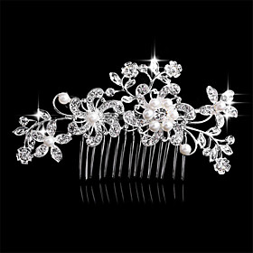Side Combs Hair Accessories Crystal Wigs Accessories Women's pcs 6-10cm cm