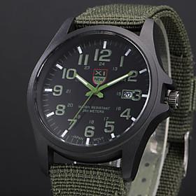 Men's Military Watch Wrist Watch field watch Quartz Aristo Analog White / Black Black Blue / One Year / Stainless Steel / SSUO 377
