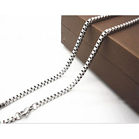 Men's Chain Necklace Titanium Steel Silver Necklace Jewelry For Christmas Gifts Daily Casual
