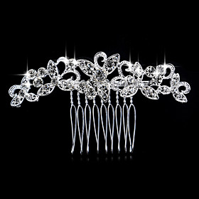 Side Combs Hair Accessories Rhinestones Wigs Accessories Women's pcs 6-10cm cm