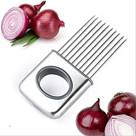 Stainless Steel Onion Slicer Vegetable Tools Tomato Cutter Meat Hamstring Fork Quantity:1pc; Type:Bracket; Application:Vegetable; Material:Silicone; Features:Creative Kitchen Gadget; Net Weight:0.074; Base Categories:Cooking Tools  ,Kitchen Tools  Utensils,Kitchen  Dining,Home  Garden