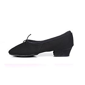 Women's Dance Shoes Ballet Shoes / Ballroom Shoes / Line Dance Heel Sneaker Lace-up Low Heel Customizable Black / Red / Pink / Practice / EU39