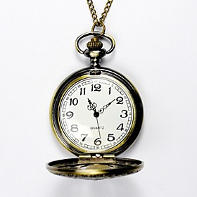 Men's Pocket Watch Quartz Artistic Style Vintage Style Gold Hollow Engraving Analog Chic  Modern