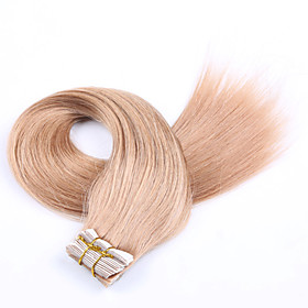 PANSY Tape In Human Hair Extensions Straight Human Hair Extensions Human Hair Brazilian Hair Women's