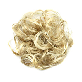 Synthetic Wig chignons Curly Classic Classic Curly Layered Haircut Wig Short Light Blonde Synthetic Hair Women's Updo