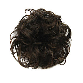 Synthetic Wig chignons Curly Classic Classic Curly Layered Haircut Wig Short Dark Brown Synthetic Hair Women's Updo