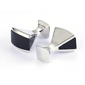 Men's Cufflinks Work Casual Brooch Jewelry Black For