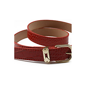 Women's Dress Belt Alloy Skinny Belt - Solid Colored Shiny Metallic / Fashion / PU