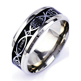 Men's Band Ring Silver Alloy Punk Rock Daily Casual Jewelry Magic