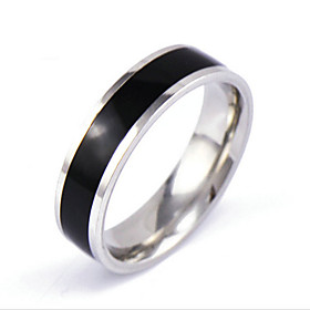 Men's Band Ring Crystal Silver Crystal Alloy Circle Personalized Punk Rock Daily Casual Jewelry