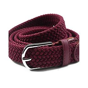 Women's Dress Belt Fabric / Alloy Skinny Belt - Solid Colored Shiny Metallic / Fashion / PU