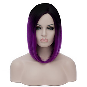 Cosplay Costume Wig Synthetic Wig Lolita Wig Short Purple Synthetic Hair Women's Purple