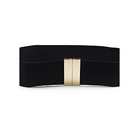 Women's Dress Belt Fabric / Alloy Skinny Belt - Solid Colored Shiny Metallic / Fashion / Polyester