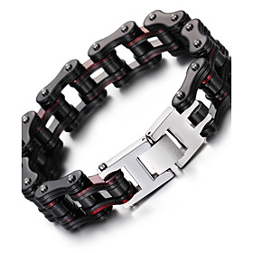 Men's Chain Bracelet Fashion Stainless Steel Bracelet Jewelry Black For Christmas Gifts Party Anniversary Birthday Congratulations Graduation