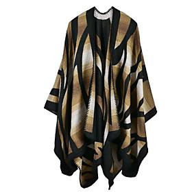 Women's Faux Fur Rectangle Scarf - Geometric / Fall / Winter