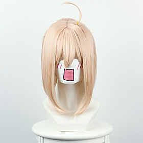 Cosplay Costume Wig Synthetic Wig Straight Straight Wig Blonde Short Yellow Synthetic Hair Women's Blonde OUO Hair