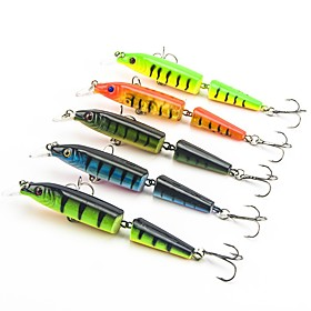 5 pcs Fishing Lures Hard Bait Minnow Floating Bass Trout Pike Sea Fishing Bait Casting Jigging Fishing Hard Plastic / Freshwater Fishing /