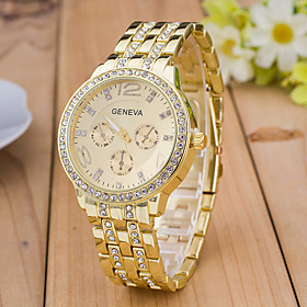 Men's Sport Watch Wrist Watch Simulated Diamond Watch Quartz Rose Gold Plated Multi-Colored Designers Large Dial Analog Charm Fashion Dress Watch - Rose Gold G