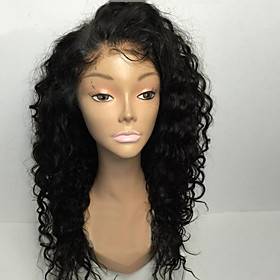 8a 8-30inch Human Hair glueless lace front wigs curly natural black color brazilian human hair lace wigs for women with baby hair natural hairline Bleached Kno