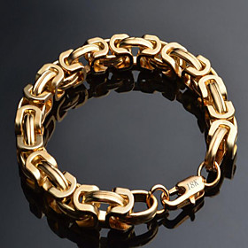 Men's Chain Bracelet Twisted Box Chain Mariner Chain Dainty Fashion Hip Hop 18K Gold Plated Bracelet Jewelry Black / Gold / Silver For Christmas Gifts Special