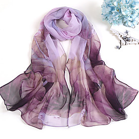 Women's Party / Holiday Chiffon Rectangle Scarf - Plaid / Check Print