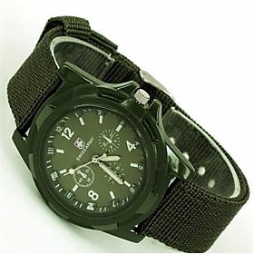 Men's Fashion Watch Quartz Casual Analog Black Blue Green