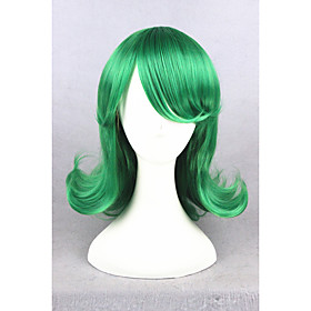 Cosplay Costume Wig Synthetic Wig Straight Straight With Bangs Wig Short Green Synthetic Hair Women's Green