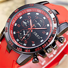 Men's Fashion Watch Digital Watch Quartz Digital Quilted PU Leather Black / White / Blue Analog Casual - Red