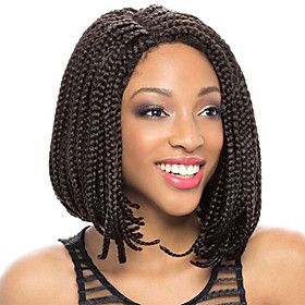 Synthetic Lace Front Wig Bob Lace Front Wig Short Black#1B Ombre Black / Medium Auburn Black / Auburn Purple Medium Brown Synthetic Hair Women's Natural Hairli