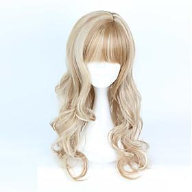 Cosplay Wigs Women's Girls' 28-32 inch Heat Resistant Fiber Brown Anime