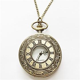 Men's Pocket Watch Quartz Analog Gold Silver