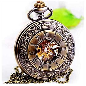 Men's Pocket Watch Quartz Steampunk Analog Brown