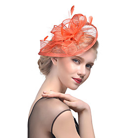Women's Kentucky Derby Mesh Fashion Elegant Acrylic Feather Party - Solid Colored